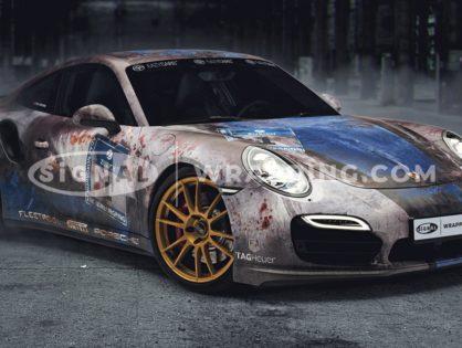 Patina Porsche im Rost-Look: Porsche 991 Turbo