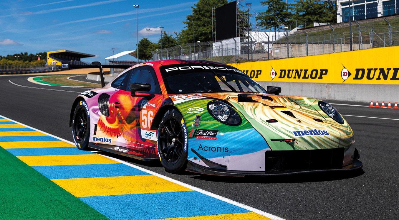 Porsche 911 RSR - mit SIGNal Folierung zum LeMans Sieg