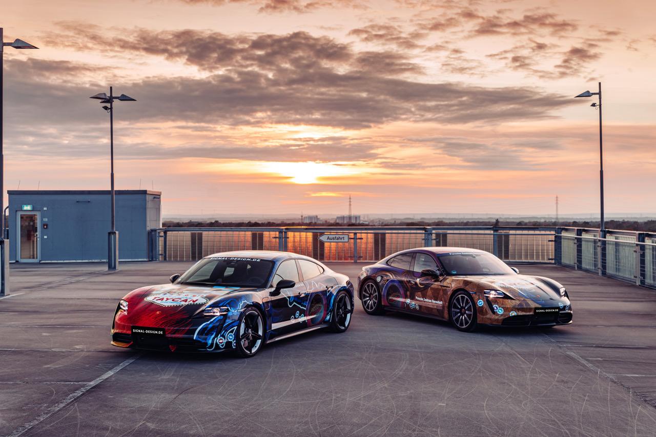 SIGNal Design bringt Porsche-Kunstwerk im Doppelpack auf die Straße