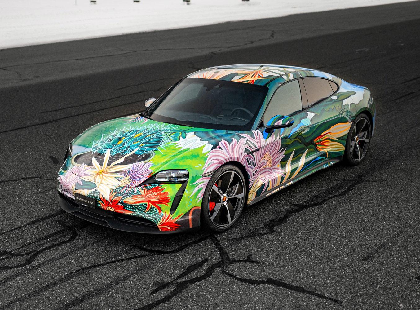 Taycan Art Car by Richard Phillips für einen guten Zweck