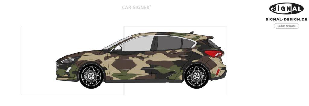 Camouflage Car Signer