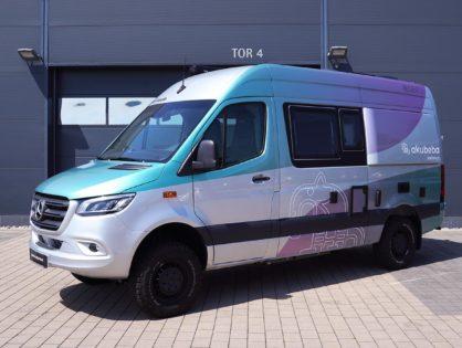 Wohnmobil Folierung mit metallic Farbverlauf