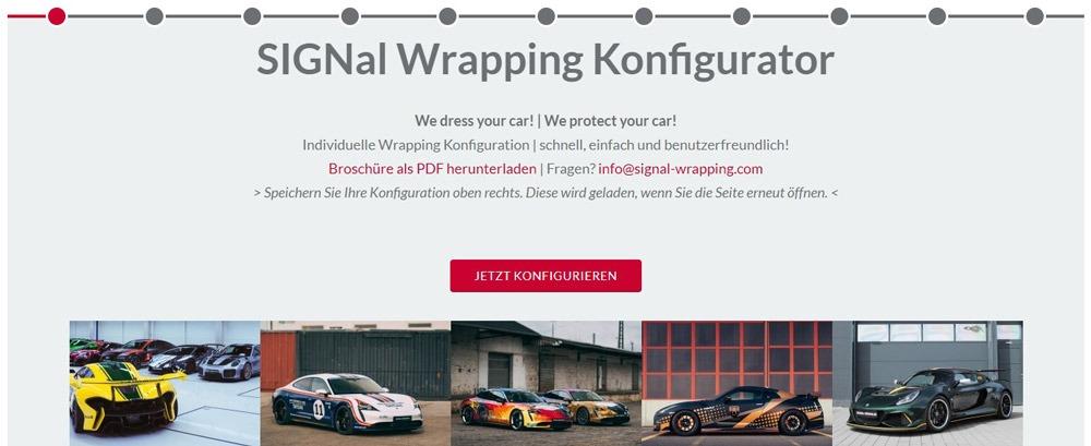 Wrapping Konfigurator